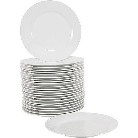 10 Strawberry Street 10 5 Round Dinner Plates Set Of 24 White Walmart Com 10 Strawberry Street Dinner Plate Sets Dinner Plates