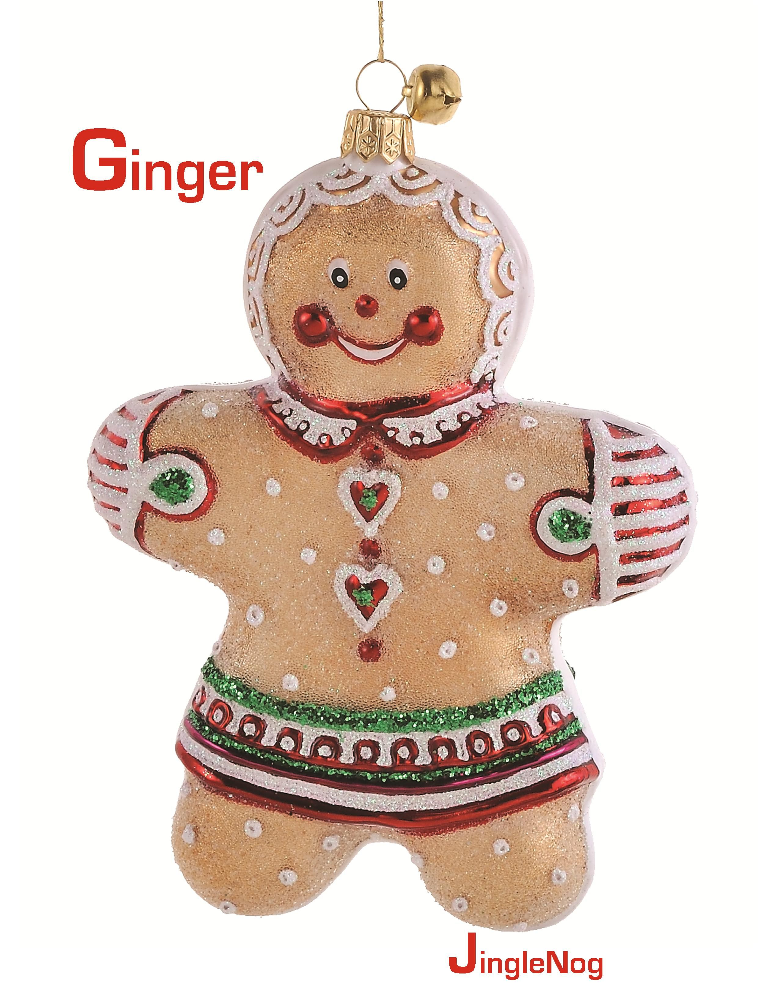 Ginger- Polish glass gingerbread girl ornament by ...