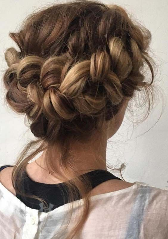 38 Gorgeous Crown Braid Updo Hairstyles For 2018 Braided