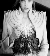 High-End Fashion Collection Mimics Sea Structures Using 3-D Printed Digital Materials - Artwire Press Release from ArtfixDaily.com