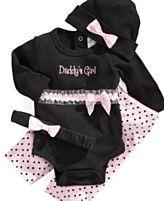Baby Essentials Baby Set, Baby Girls Bodysuit, Pants, and Hat or Headband Set