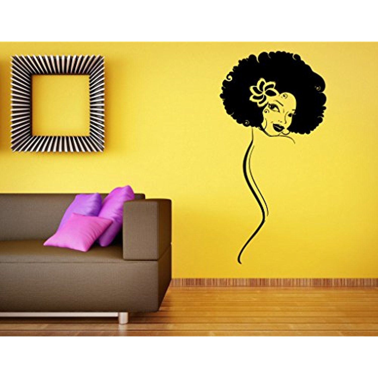 Africa African Girl Wall Stickers Vinyl Decals Home Decor Sticker ...