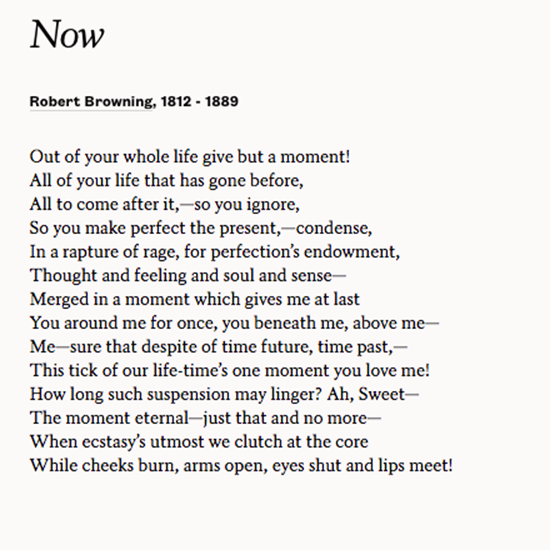 """Share """"Now"""" By Robert Browning To Celebrate Your Wedding"""