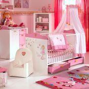 Home24 Angebote Kinderzimmer SparSet Prinzessin Lillifee(2 Teilig)    Sprossenbett U0026 Wickelkommode Rosa