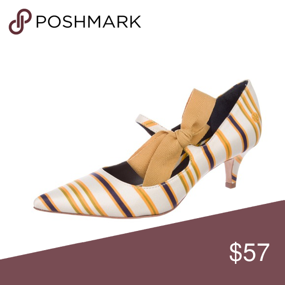 "4f1e4781677 Tory Burch Marin Stripe Low Heel Beverley Pump 6 Tory Burch Marin Stripe  Beverley Low Heel Pump🔸Size 6  3"" Widest Width Point"