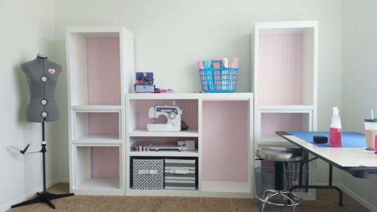 Diy Craft Room Wall Storage Organizer Unit Furniture Makeover Project Tutorial From A 90s Oak Entertainment Center Diy Wall Unit Wall Storage Unit Diy Entertainment Wall Unit