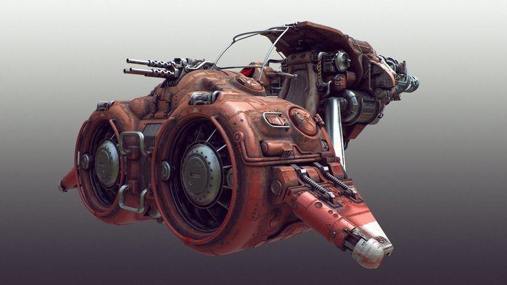 ArtStation - Scifi speeder, Tor Frick: