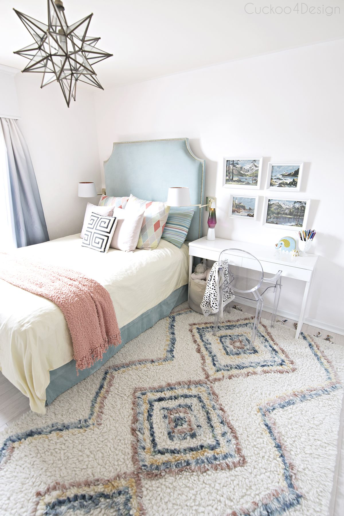 New Colored Moroccan Shag Rug Tween Girl Bedroom Tween Bedroom Bedroom Decor Cozy