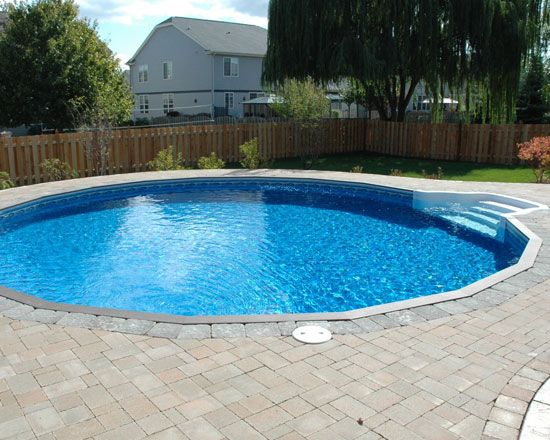 The Ultimate Round Vinyl Inground Pool Available At American Sale Vinyl Pools Inground Swimming Pools Inground Semi Inground Pools