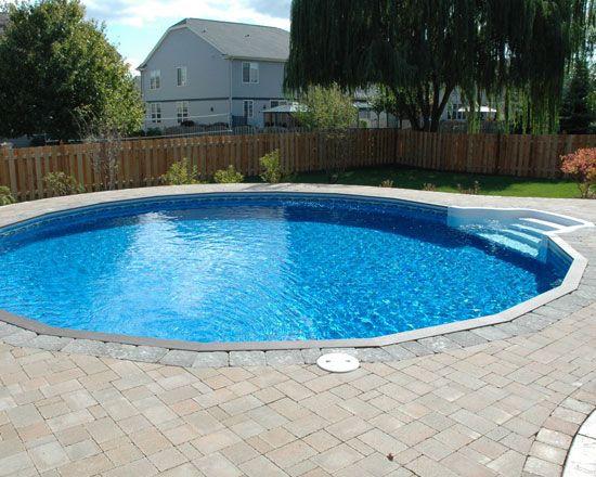 The Ultimate Round Vinyl Inground Pool Available At American Sale Vinyl Pools Inground Swimming Pools Inground Pool Landscaping