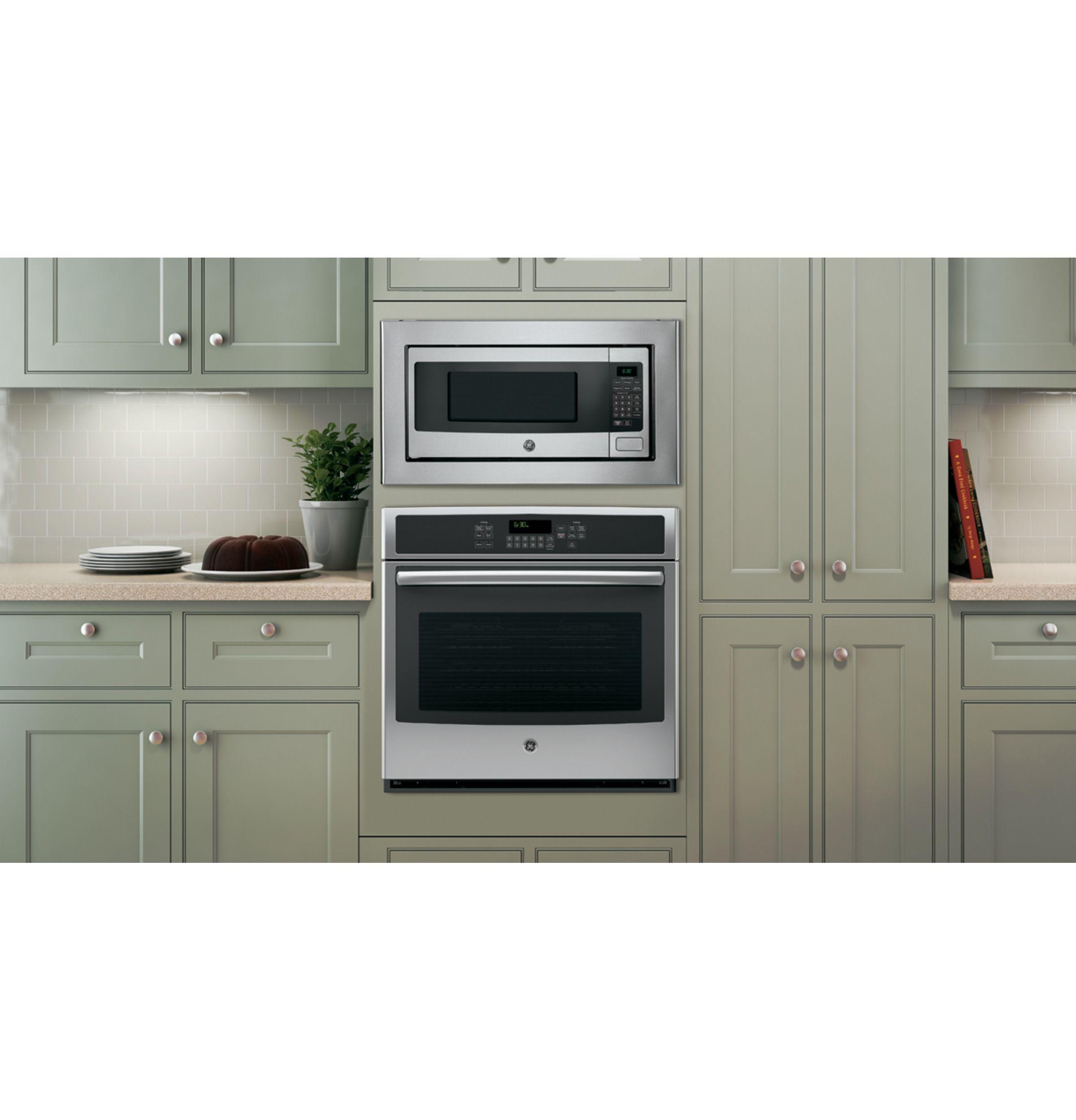 Ge Profile 1 1 Cu Ft Countertop Microwave Pem31sfss 30 Trim