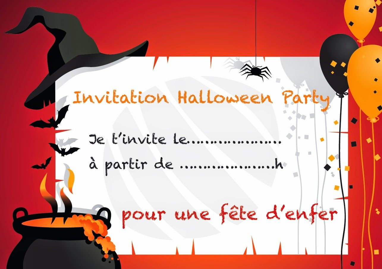 invitation gratuite pour halloween halloween pinterest invitation gratuite halloween et. Black Bedroom Furniture Sets. Home Design Ideas