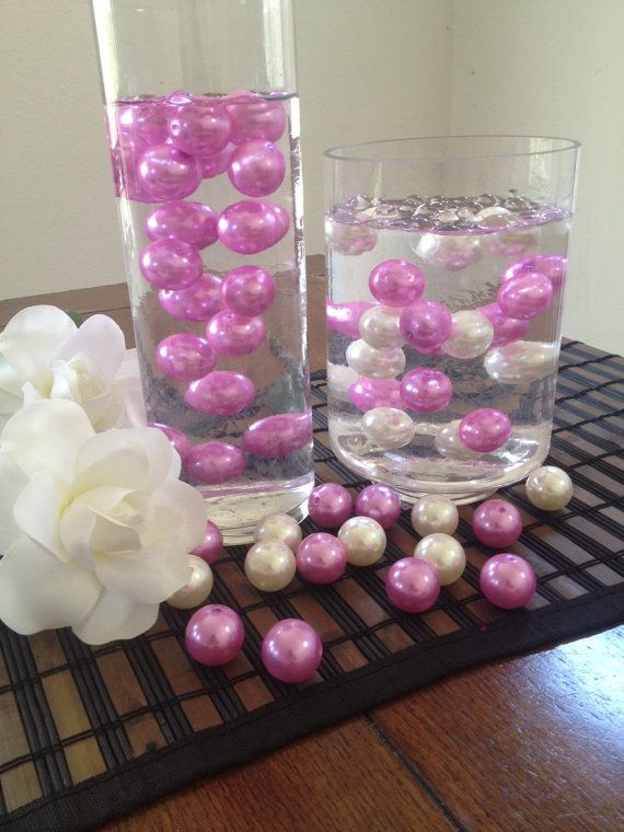 Hot Pink White Jumbo Floating Pearls Vase By Floatingpearls The