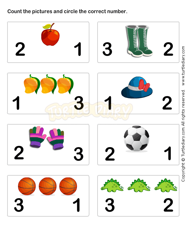 Learn Numbers Worksheet3 math Worksheets preschool Worksheets – Number Matching Worksheets for Kindergarten