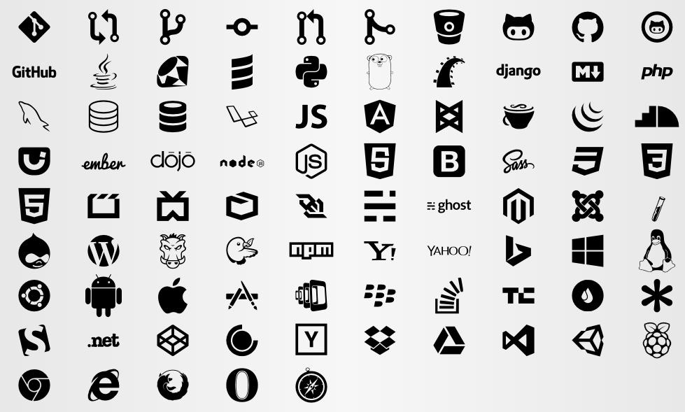 Devicons The developer's iconic font Web design, Free