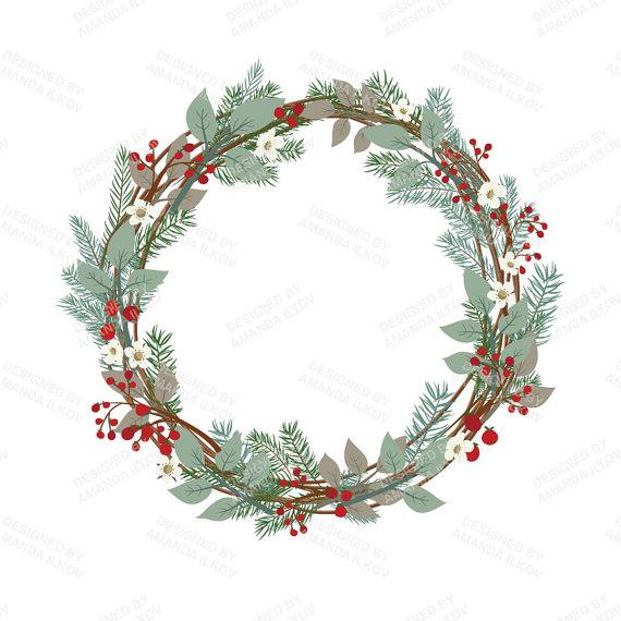 Rustic Christmas Wreath Clipart Rustic Christmas Wreath Clipart Great Free Clipart Silh Christmas Wreath Clipart Rustic Christmas Wreath Christmas Wreaths