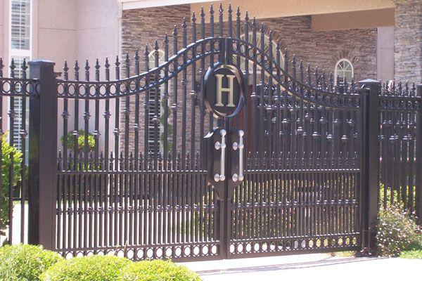 Monogram Gate Driveway Gate Entrance Gates Sliding Gate