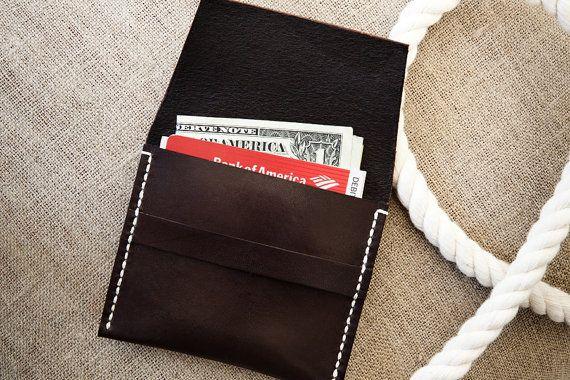 Saddle Wallet in Walnut by natemadegoods on Etsy, $75.00