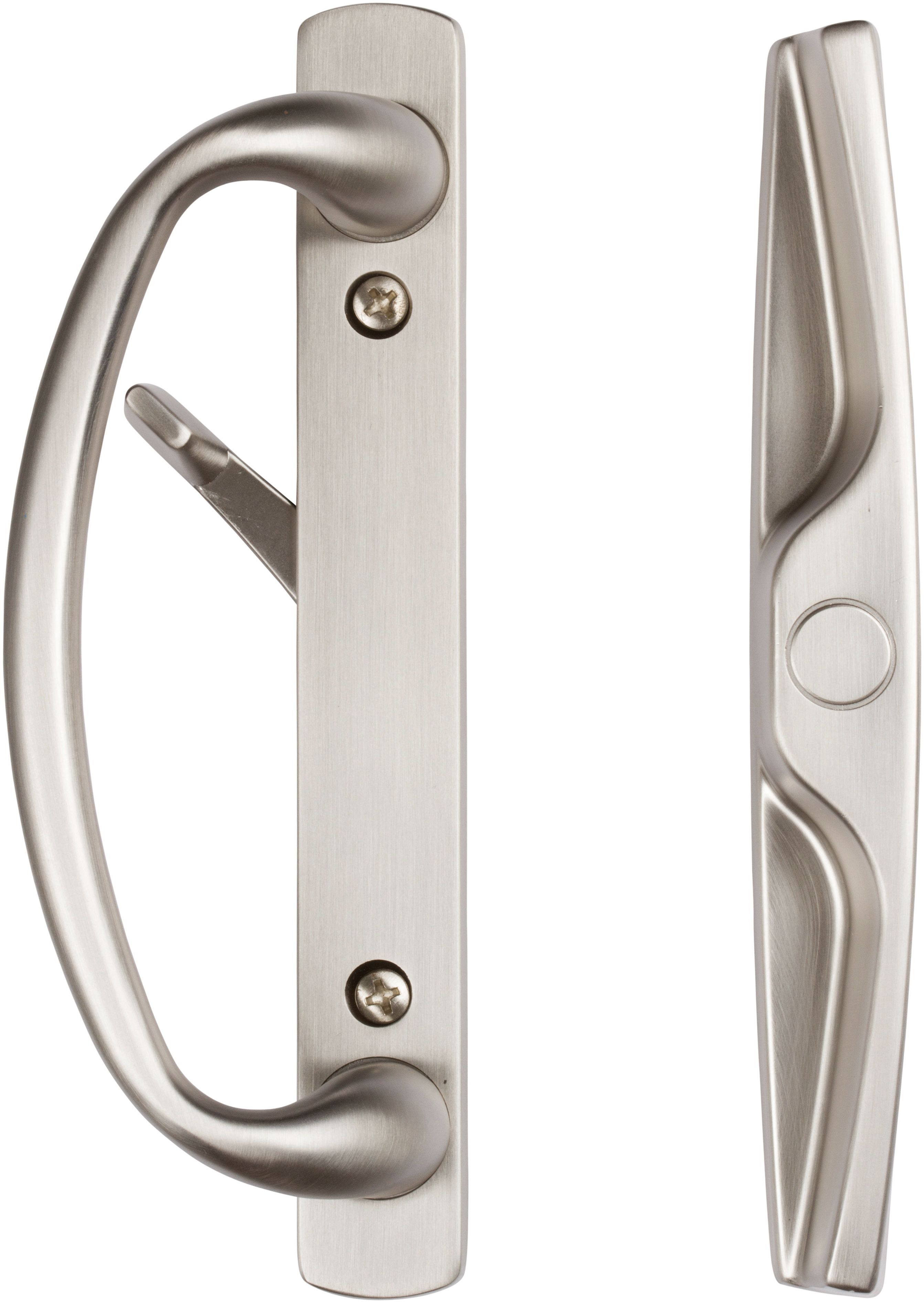 rockwell euro charlotte sliding door handle set in brushed nickel