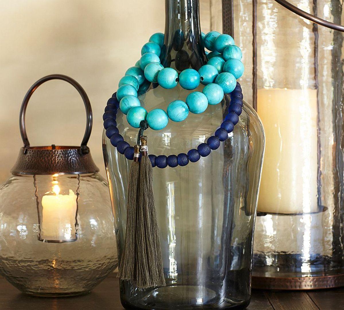 Blue glass beads vase filler spring decor pinterest glass blue glass beads vase filler reviewsmspy