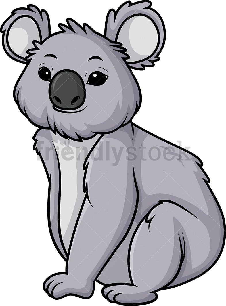 Koala Bear Cartoon Clipart Vector Friendlystock Cartoon Clip Art Bear Cartoon Cute Koala Bear
