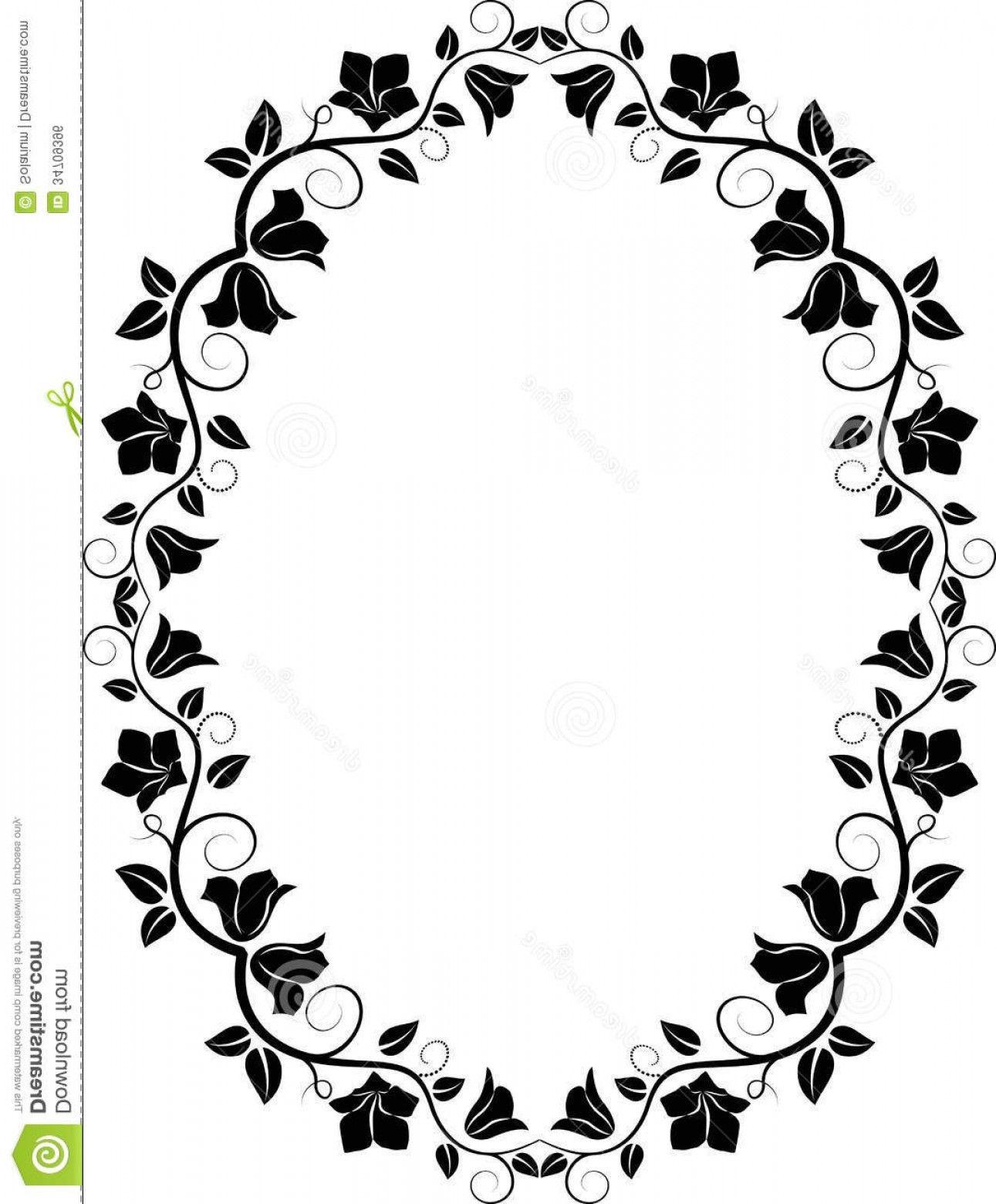 Png Clipart Oval Flower Border Vector Flowers Healthy Stock Floral Frame Filhouette Color Picker Image Vector And Clipart Vector Flowers Flower Border Clip Art