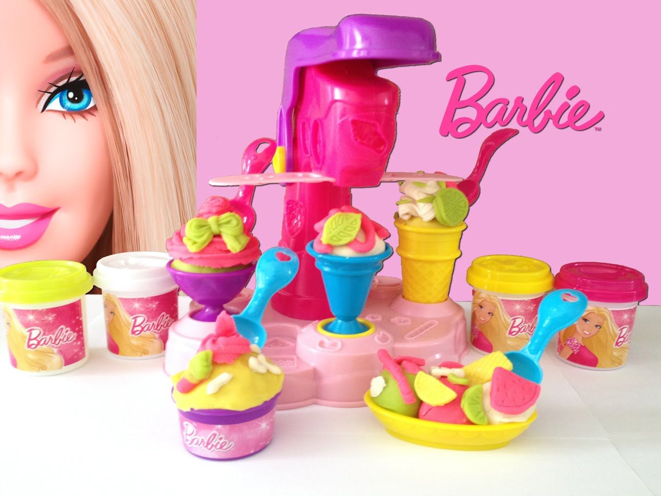 Barbie Fábrica de Sorvetes Massinha e Acessórios - Barbie Ice-Cream Fun ...