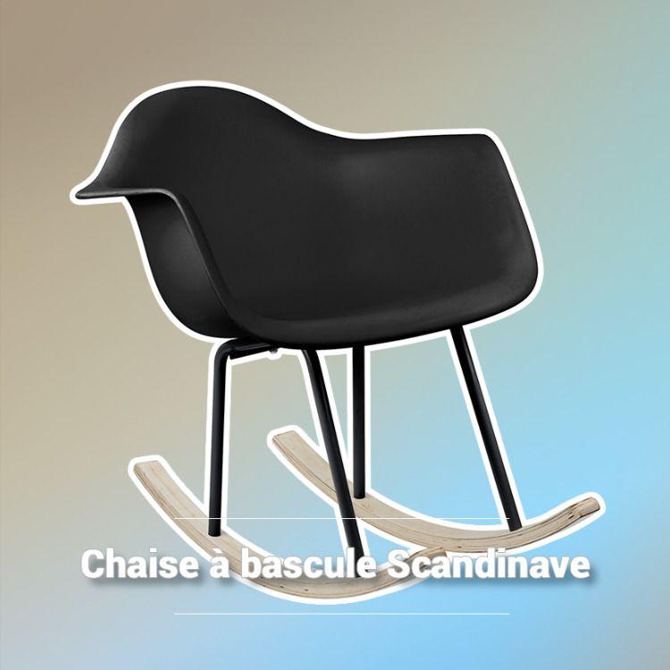 Pour Votre Salon Scandinave Cette Chaise A Bascule Vic Sera Un Atout De Taille Design Et Epuree Elle Offre U Chaise A Bascule Mobilier De Salon Meuble Salon