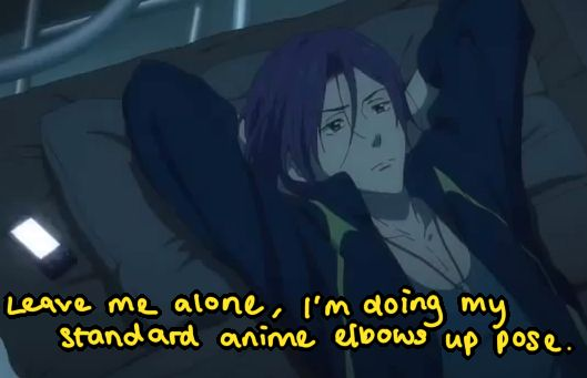 Leave Rin alone, he's trying to be cool while sulking. Free!