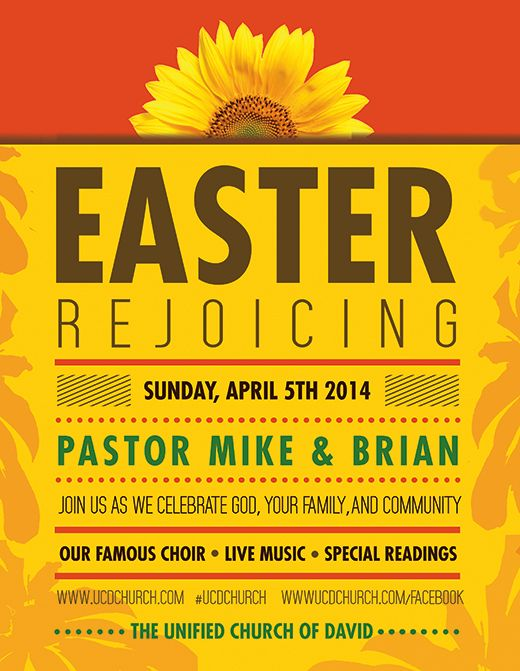 Free flyer templates for your church or spiritual event promotion - easter flyer template
