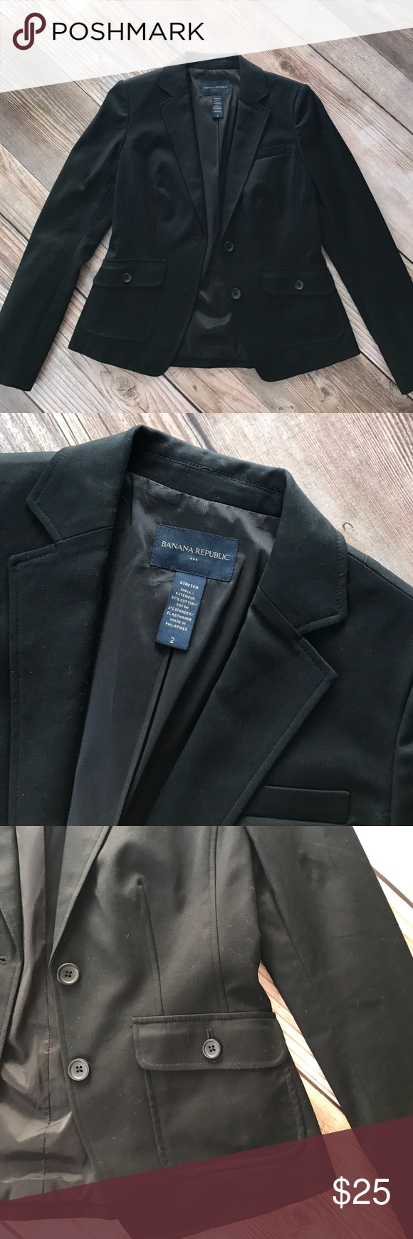 Banana Republic Blazer I may have only worn this blazer once or twice. It's in excellent condition and would look great with a pair of jeans and heels! Banana Republic Jackets & Coats Blazers