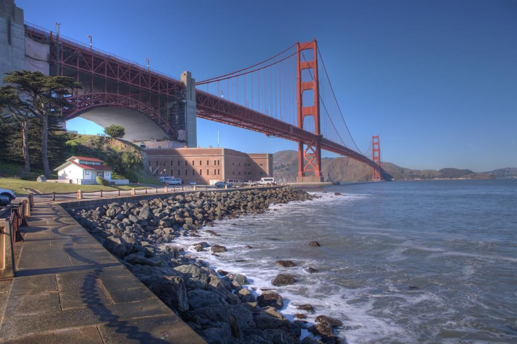 Fort Point and Golden Gate Bridge Fort Point on