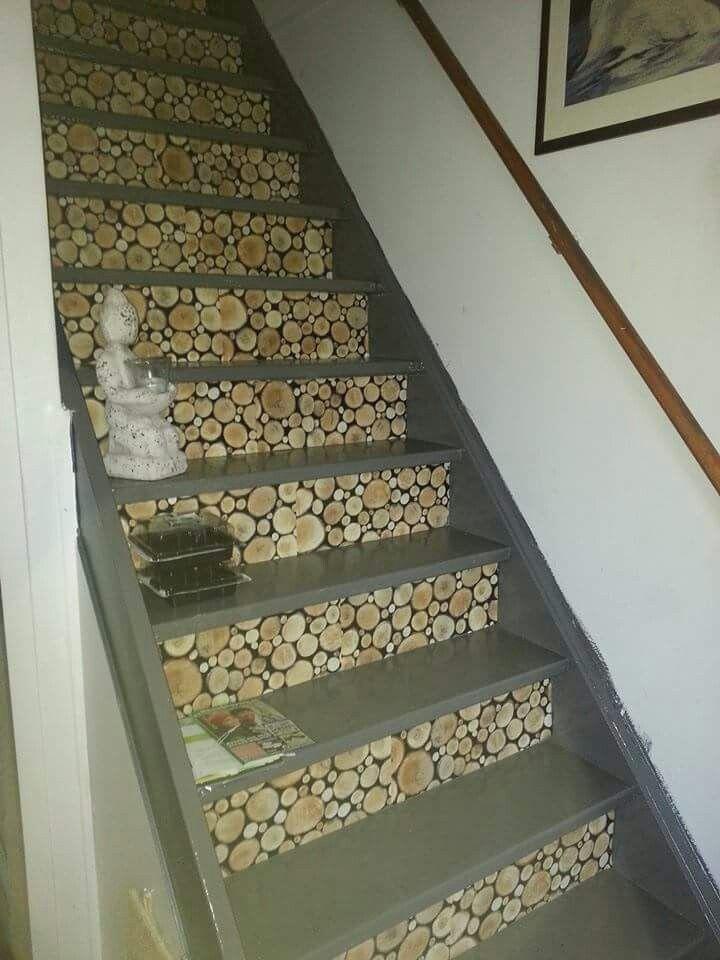 Idee voor de trap met plakfolie van action action for Plakfolie decoratie