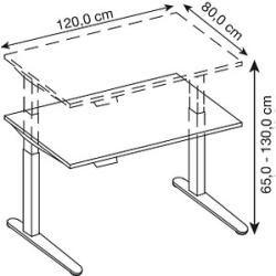 Photo of Hammerbacher Xbhm12 höhenverstellbarer Schreibtisch weiß rechteckig Hammerbacher