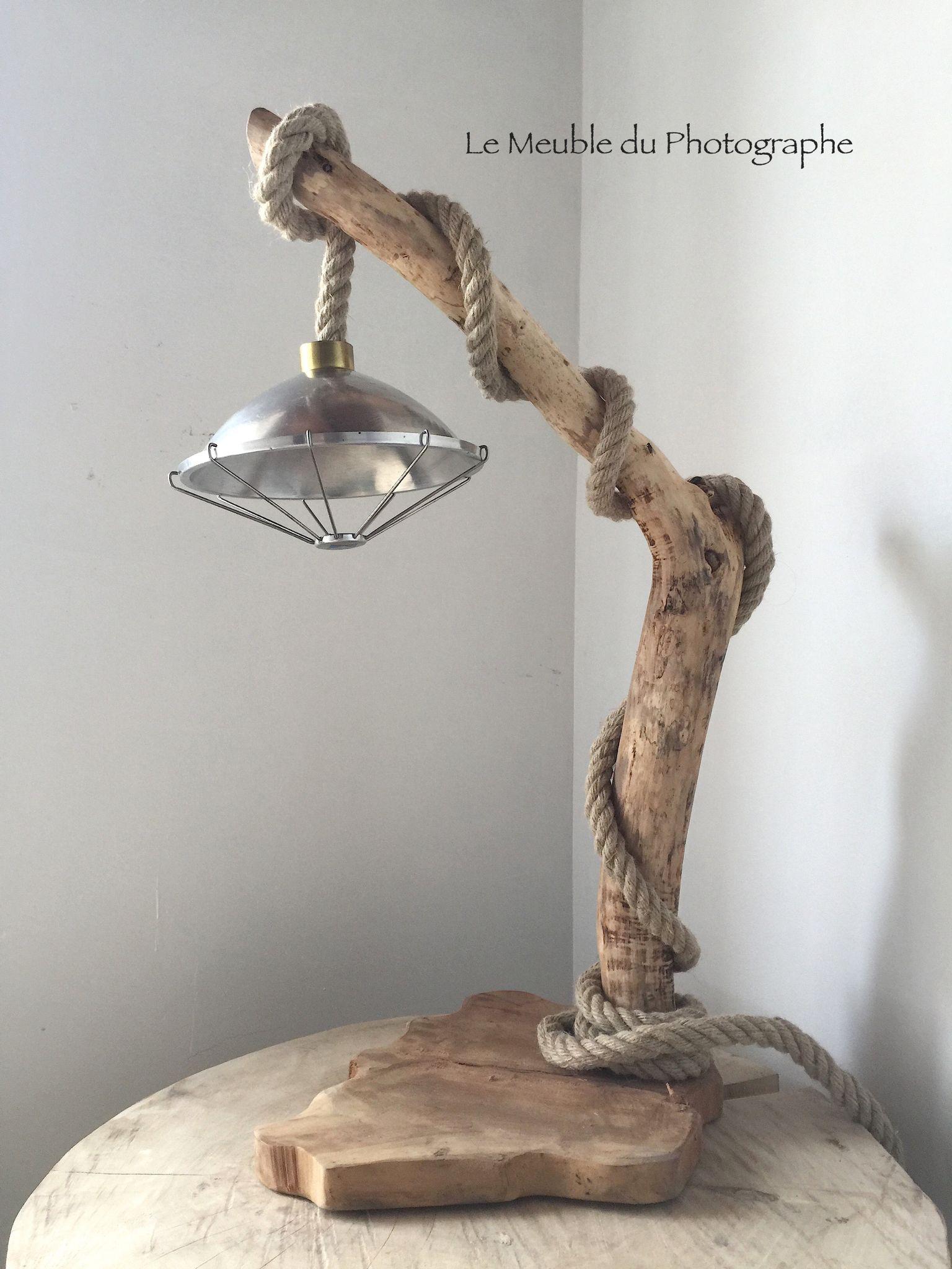 Lampe En Bois Flotte Et Corde Electrifiee Barbatruc Et Recup