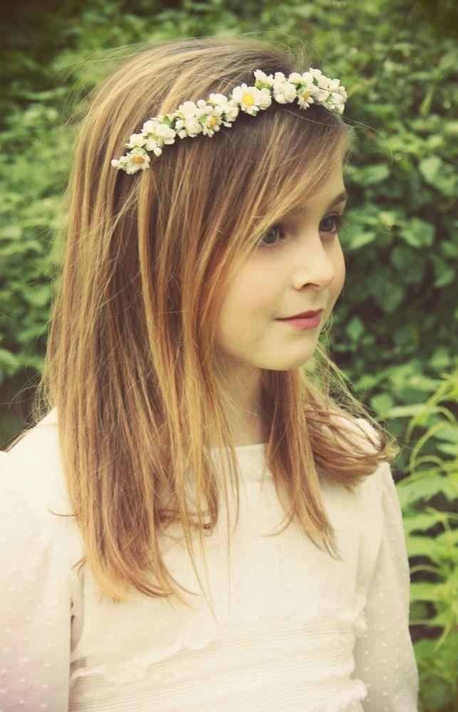 Coiffure mariage enfant bandeau cheveux les printemps et fleuri - Coiffure mariage invitee ...