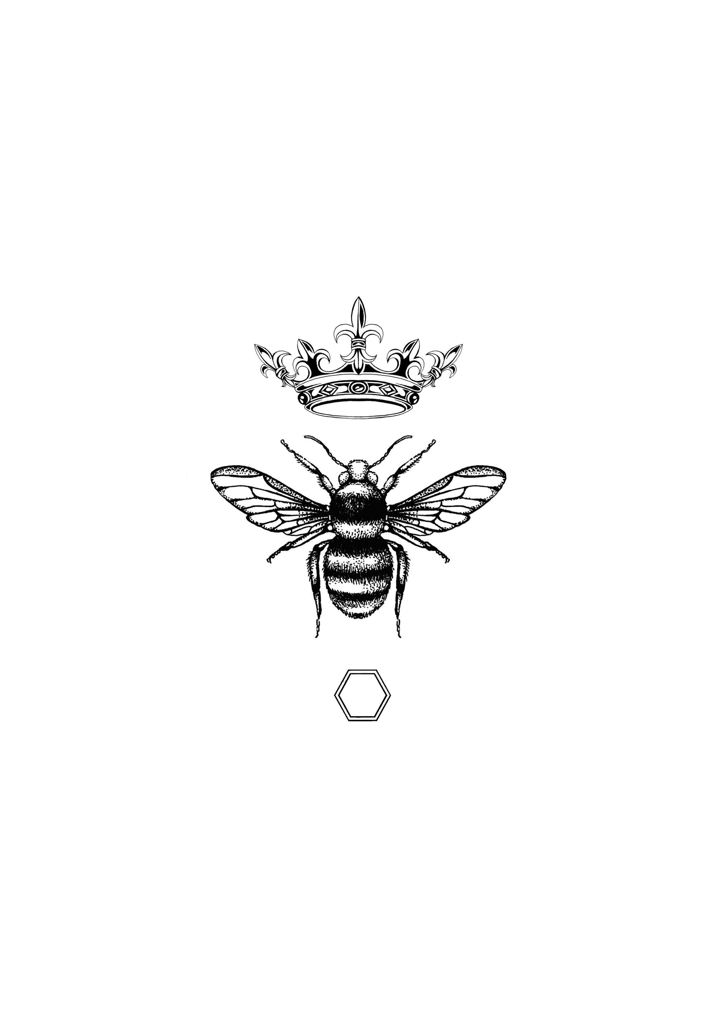 'The Honey Queen Bee' Fine Art Print