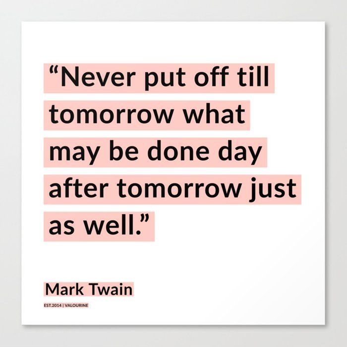 27   | Mark Twain Quotes 200908 Motivational Inspirational Inspiring Motivating Canvas Print by Wordz