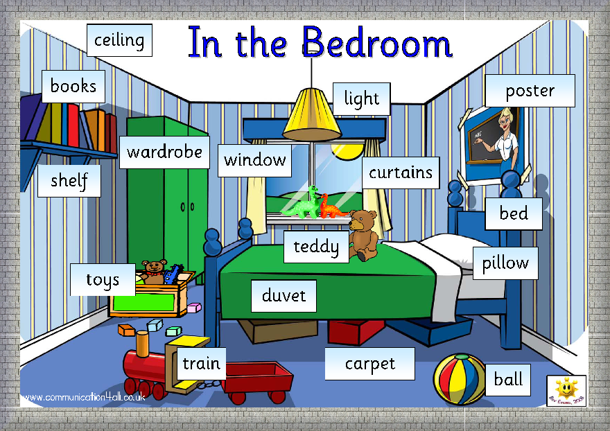 English kids fun in the bedroom home pinterest for Bedroom furniture vocabulary