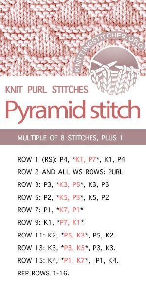 Pyramid Knitting Pinterest Knitting Knitting Stitches And