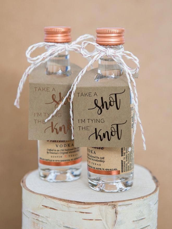 Omg These Diy Mini Alcohol Gift Tags Are The Cutest Fun Bridal Shower Games Bridal Shower Games Wedding Favors For Guests