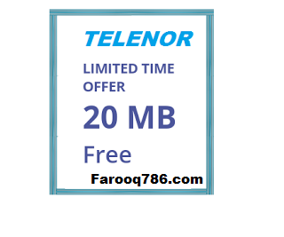 How To Get Daily Free 20 Mb In Telenor Free How To Get Offer