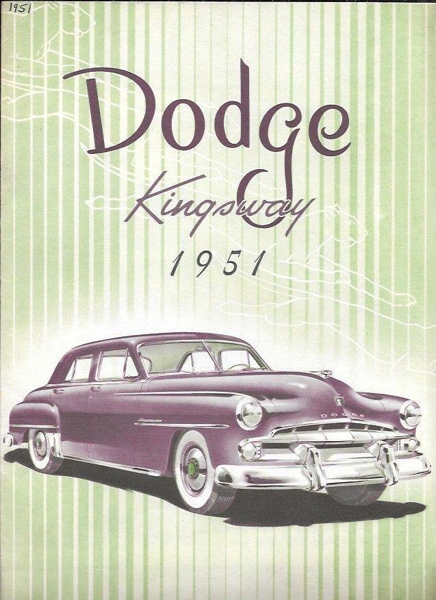 Dodge Kingsway USA Car Sales Brochure 1951 | eBay | Old Dodges and ...