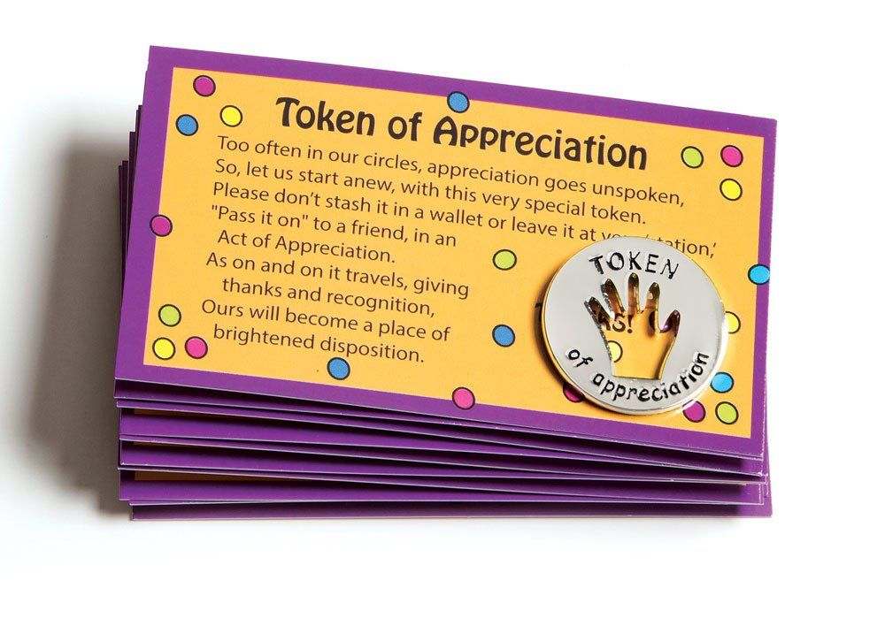 tokens of appreciation and cards combo set of 10 each office oxygen