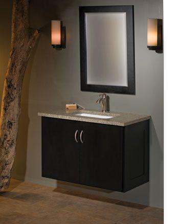 """Zenith Bathroom Mirrors 36"""" lambiere wall mount vanity ensemble. the zenith door style is"""