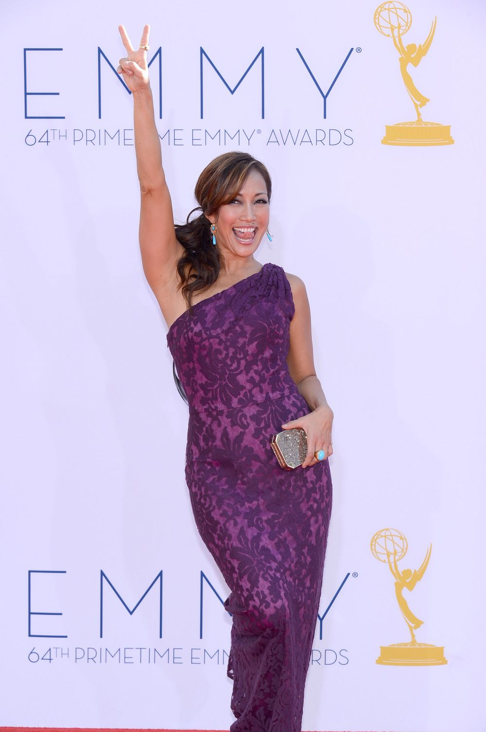 Dancing With the Stars Judge Carrie Ann Inaba wore a purple dress by ...