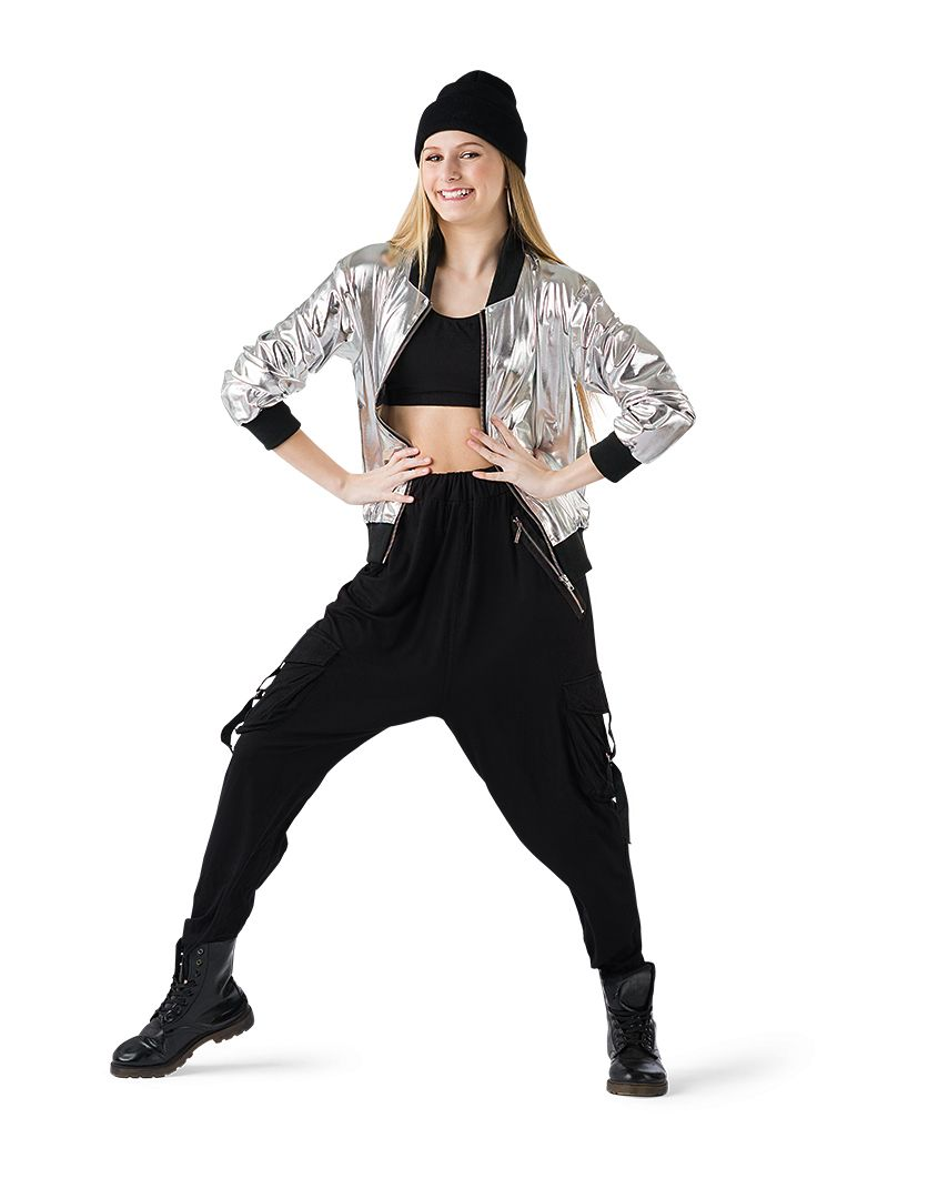 Foil Jacket Silver Hh49 81 Dance Competition Costumes Dance Outfits Hip Hop Outfits