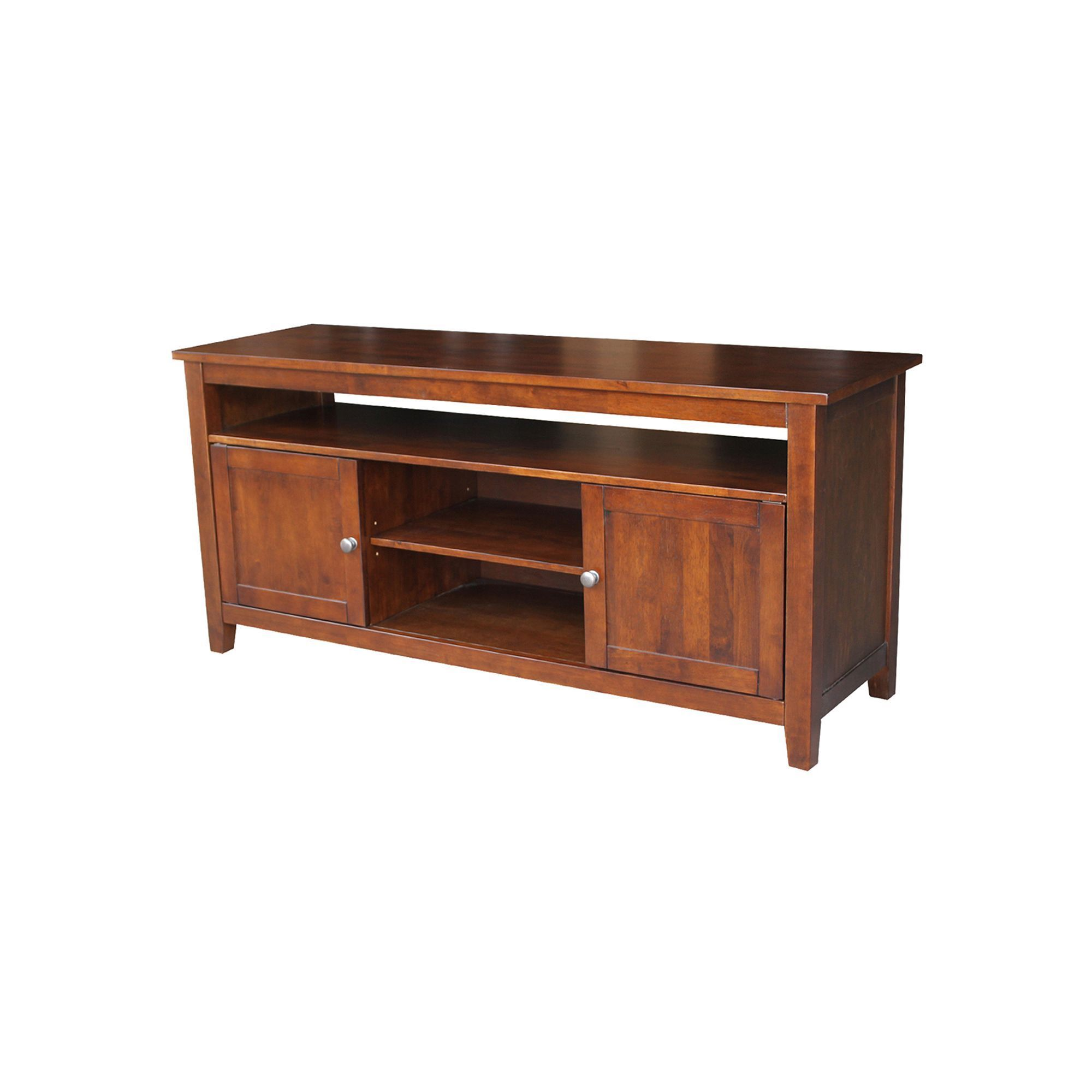 International concepts two door tv stand products tv stand real wood entertainment center wood entertainment center
