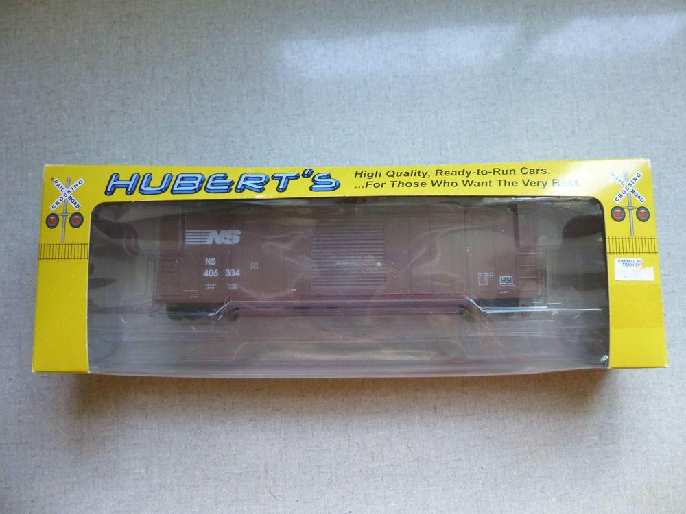 Hubert's Norfolk Southern 50' ACF Single Door Box Train Car HO Scale 406304…