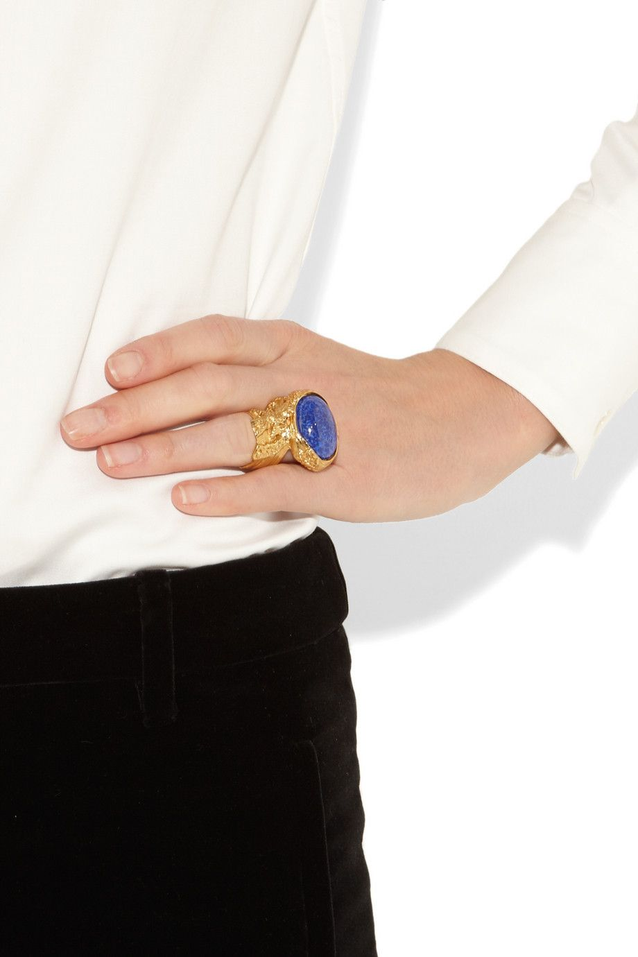 YSL Arty gold-plated glass ring... save save save